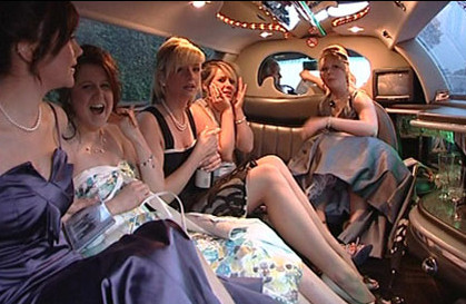 Women and ball gowns travel with Los Angeles County Limousine
