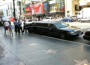 Walk of Fame, Hollywood limo